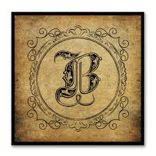 alphabet b brown canvas print black frame kids bedroom wall d cor home art on wall art letter b with alphabet letter initial typography kids bedroom wall art home d cor