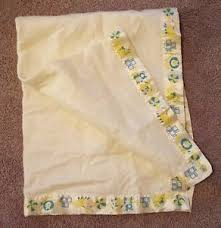 Vintage Baby Security Blanket Triboro Quilt Acrylic Yellow Satin ... & Image is loading Vintage-Baby-Security-Blanket-Triboro-Quilt-Acrylic-Yellow- Adamdwight.com