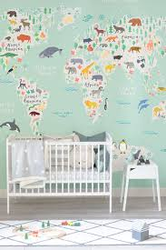 safari kids map mural wallpaper 36 00 m2
