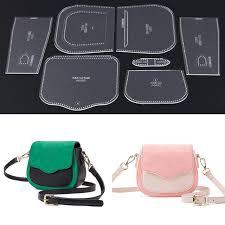 Leather Templates 1 Set Acrylic Leather Template Diy Shoulder Bag Handbag Pattern