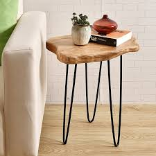 amazing welland industries llc cedar wood end table reviews wayfair regarding round wood end table