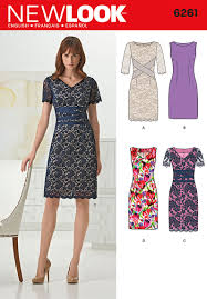 New Look Patterns Simple 48 New Look Pattern Misses Dress With Neckline Variations