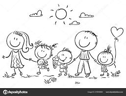 Famiglia Con Tre Bambini Passeggiate Allaria Aperta Muta