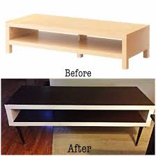 Ikea hack - Lack tv stand to mid century inspired