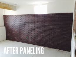 diy faux brick wall snappy casual