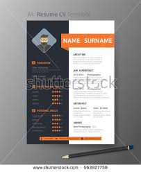 Clean Modern Design Template Resume C Vvector Stock Vector Royalty