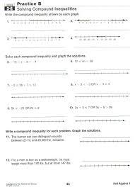 solving compound inequalities worksheet algebra 1 worksheets for
