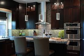 pendant lighting over kitchen sink three tube glass shade mini pendant lamps over gray stained wooden