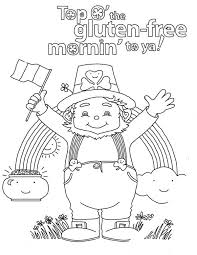 Happy St Patricks Day To All Irish Coloring Page Download Print