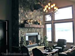 mantles without fireplace faux wood mantels mantel shelf family room rustic with beams reclaimed fi