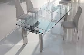 nice extendable dining table glass very practical expandable glass dining table