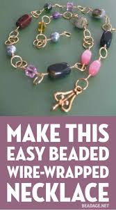 simple wire beads necklace