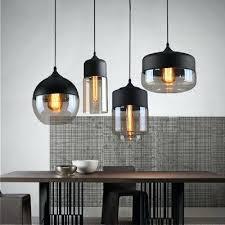 design classics lighting modern hanging globe. Light: Art Glass Ceiling Light Loft Vintage Pendant Black White Gray Lampshade Kitchen Hanging Lamp Design Classics Lighting Modern Globe