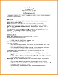 Intern Resume Template Internship Word Examples Forlege Students
