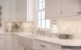 subway calacatta gold tile backsplash idea