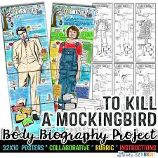 To Kill A Mockingbird Character Analysis Chart To Kill A Mockingbird Body Biography Project Bundle Great For Characterization
