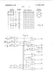 Mechanical electrical medium size patent us3896429 segment decoder for numeric display drawing control wiring