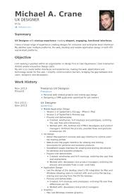Freelance Ux Designer Resume samples
