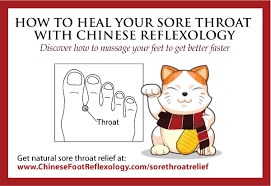 Foot Healing Chart How To Heal Your Sore Throat Naturally With Chinese Reflexology