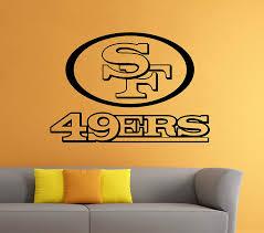 49ers Room Designs Amazon Com San Francisco 49ers Vinyl Decal Wall Sticker Nfl