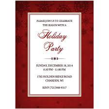 Formal Christmas Party Invitations Christmas Party Invitations Formal Design Printed With