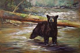 Black Bear - Painting Art by Peggy Watkins