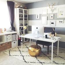 black white home office inspiration. Office Room Interior Design Ideas Distressed White Wood Furniture Accessories Modern And Storage Space Ikea Desk Black Home Inspiration T