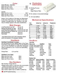 Newspaper Advertising Contract Template Understanding Advertising Rate Cards