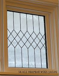 faux leaded glass window how to