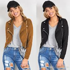 hip hop style womens leather jackets spring fall motor biker jacket streetwear black brown long
