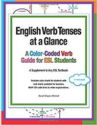 Amazon Com English Verb Tenses At A Glance A Color Coded