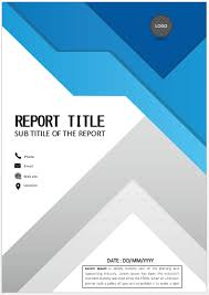 Cool Title Pages Geometric Blue Cover Page