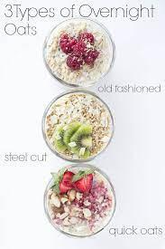 three types of overnight oats little