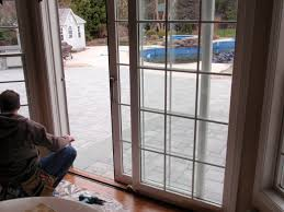 Pella Sliding Doors With Modern Glass Door With Nice White Frame ...