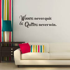 wall decal for office. Wonderful Office Winners Never Quit Motivational Quote Wall Sticker For Decal Office