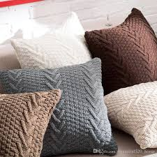 outdoor cushion slipcovers knitted decorative pillow covers square 45cm x 45cm sofa throw of outdoor cushion