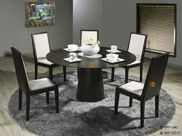 kitchen decorative modern round dining table set 14 room sets for 6 glass and chairs kitchen decorative modern round dining table set