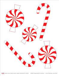 Check out these candy wonderland decor pictures. Candy Cane Printable Coloring Page Yes We Made This Christmas Ornament Template Christmas Candy Cane Decorations Candy Coloring Pages