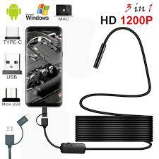 USAFEQLO 2m 5m 10m Soft Cable Mini Camera 7mm lens ...