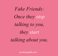 Quotes About Fake Friendship Classy Friendship Quote Fake Friends Once they stop talking