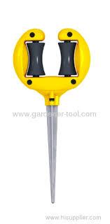 garden hose stakes. plastic garden hose guide with roller stakes e