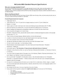 Standard Format For Resume Resume Format Word File Html Student Intended Standard Canadian