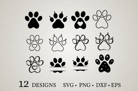 Freesvg.org offers free vector images in svg format with creative commons 0 license (public domain). Dog Paw Bundle Graphic By Euphoria Design Creative Fabrica