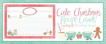 Printable Christmas Recipe Cards Cute Holiday Recipe Card Printable For You Plus Some Sweet Happening