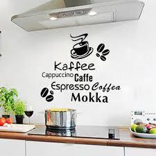 Cafe Latte Kitchen Decor Wall Decals Coffee Time Cafe Kitchen Vinyl Sticker Murals Wall