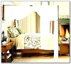 Four Post Bed Four Post Bed Frame 4 Poster Canopy Drapes Com With Regard To  Curtains