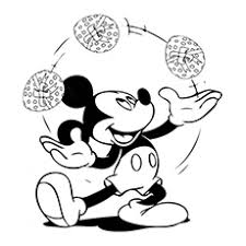 Mickey Mouse Easter Coloring Pages