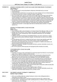 Supply Chain Resume Supply Chain Manager Resume Customer Supply Chain Manager Resume 91