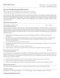 Accounts Receivable Resumecomplishments Resumes Specialist Objective