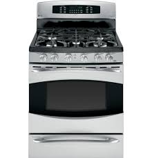 ge profile acirc cent standing self clean gas range baking product image